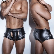 Sexy Faux Leather Four Boxer Shorts