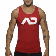 Addicted Vest - Silver on Red