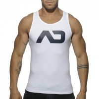 Addicted Vest - Silver on White