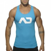 Addicted Vest - Silver on blue