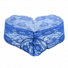 Lace Flower Blue Briefs