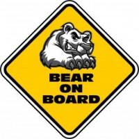 Bear on Board Car Sign