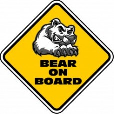 Bear on Board Car Sign