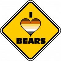 I Love Bears Car Sign