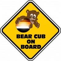 Bear Cub on Board Car Sign