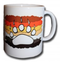 Bear claw with flag background