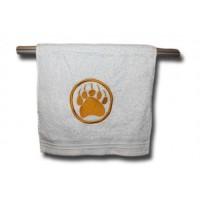 Hand Towel - Gold Monogram White
