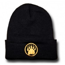Beanie - Knitted Gold Monogram Navy