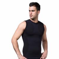 Men Body Slimming  Shaper Vest - Black