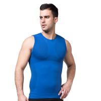 Men Body Slimming  Shaper Vest - Blue