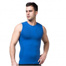 Men Body Slimming  Shaper Vest - Blue