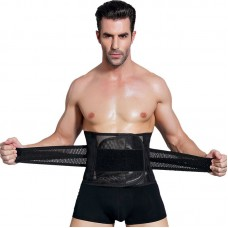 Waist Trainer Men Slimming Belt Black