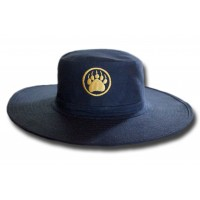 Cricket Hat - Gold Monogram Navy