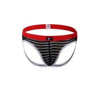 Jockstrap sexy black-stripe see through