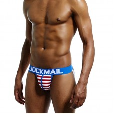 Jockmail Blue with red and white stripes