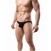 Irresistible See Through Black Stripe Briefs