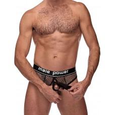 Cock Pit Net Cock Ring Thong Black