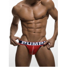 Pump Mesh Jock-Strap Red and Navy