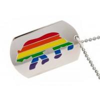 Bear Rainbow Dog Tag