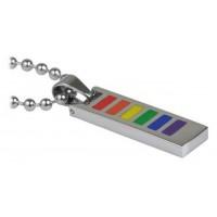 Rainbow Flat Ladder Pendant