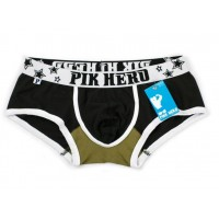 Pink Hero Black Low Waist with back-print