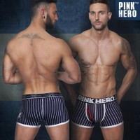 Pink Hero Navy British Fashion Stripes