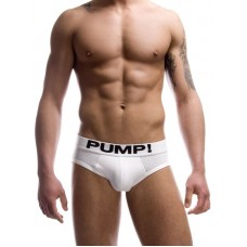Pump Hollow Mesh Briefs White