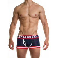 Pump Hollow Mesh Boxers Navy, Red and White