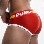 Pump Hollow Mesh Briefs Red