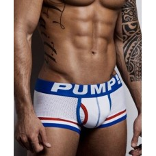 Pump Hollow Mesh Boxers White, blue and Red