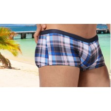 Austin Bem Briefs - Dark Blue Check