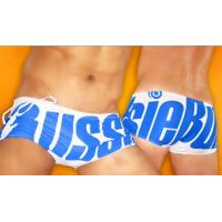 Aussiebum swim briefs blue on white