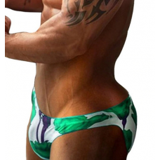 Green Roses Brief Swimwear
