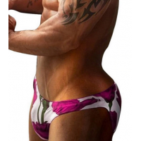 Pink Roses Brief Swimwear