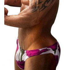 Pink Roses Brief Swimwear