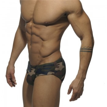 Addicted briefs Green Camouflage Swimwear