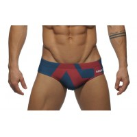 Addicted Brief Red on Navy