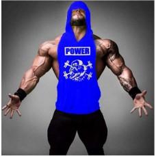 Blue Muscle Dog Hoodie
