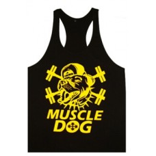 Muscle Dog Vest Black and Gold