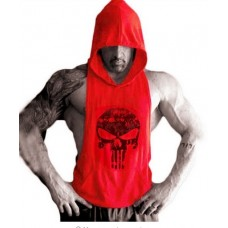 Red Muscle Dog Hoodie